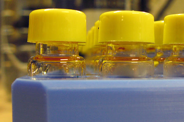 Image of yellow capped vials